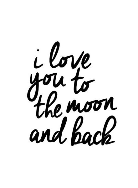 Best Typography Quotes Typographic Art I Love You To The Moon And