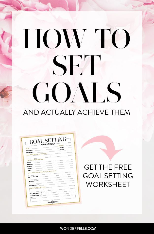 Goal Setting for 2016: how to set goals and actually achieve them. 6 ...