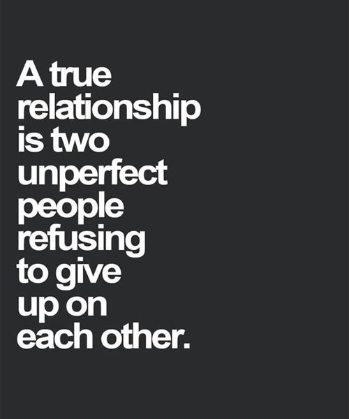 Love Give Up On Each Other Lovely Quote Full Dose