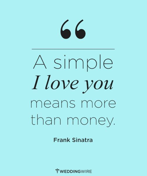 Love Quote A Simple I Love You Means More Than Money Cool Simple Quotes About Love