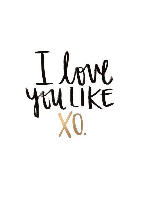 Love quote I Love You Like XO You Love Me Like XO Beyonce Beauteous Love Lyrics Quotes