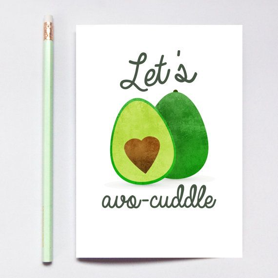 Love Quote Let S Avocuddle Greeting Card Long Distance