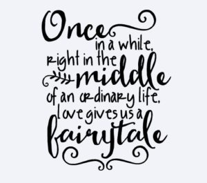 Love Gives Us A Fairytale Quote Vinyl Decal - QuotesStory ...