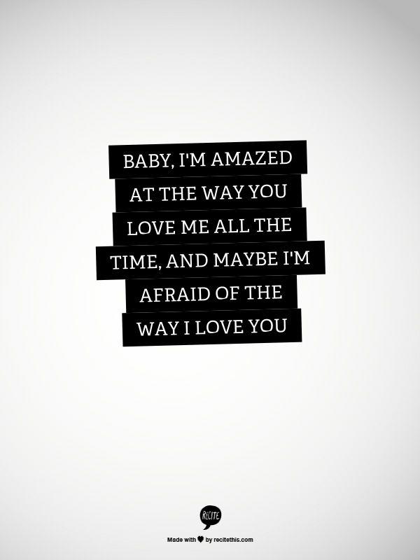 Love quote Love lyrics Paul McCartney Maybe I'm Amazed Enchanting Love Lyrics Quotes