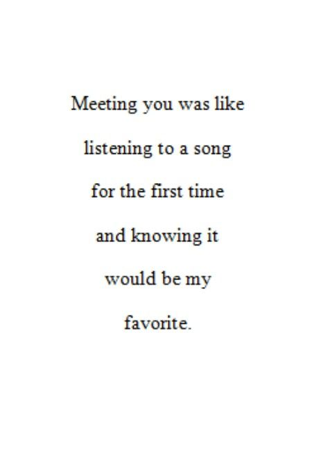 Love Quote Love Quote Quot Meeting You Was Like Listening