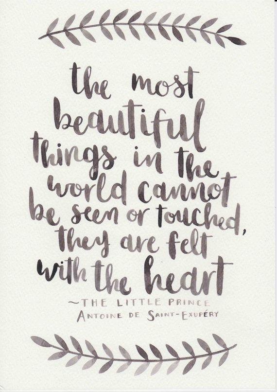 Love Quote The Little Prince Quote Original Watercolor Painting