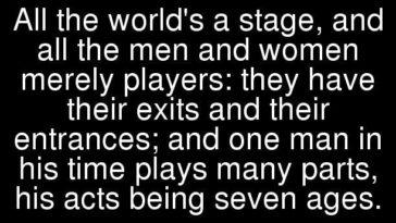 a plot overview of shakespeares all the worlds a stage All the world's a stage poem theme, analysis,summary in these lines the poet compares this world to a stage all men and women all the worlds a stage.