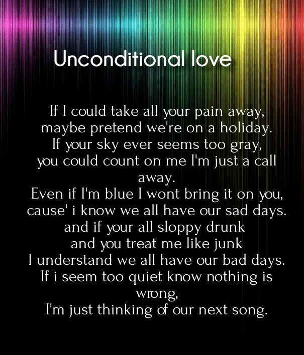what is unconditional love quotes