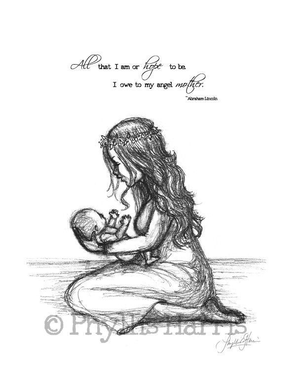 Love : Love Quotes For Her: Mother and child wall art print ...