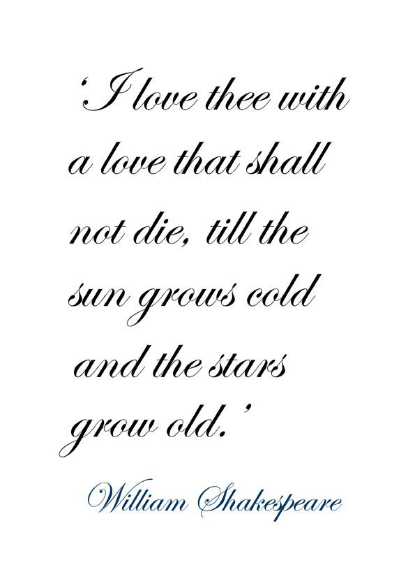 Shakespeare Quotes About Love Mesmerizing William Shakespeare Quotes ♔ 'i Love Thee With A Love That Shall