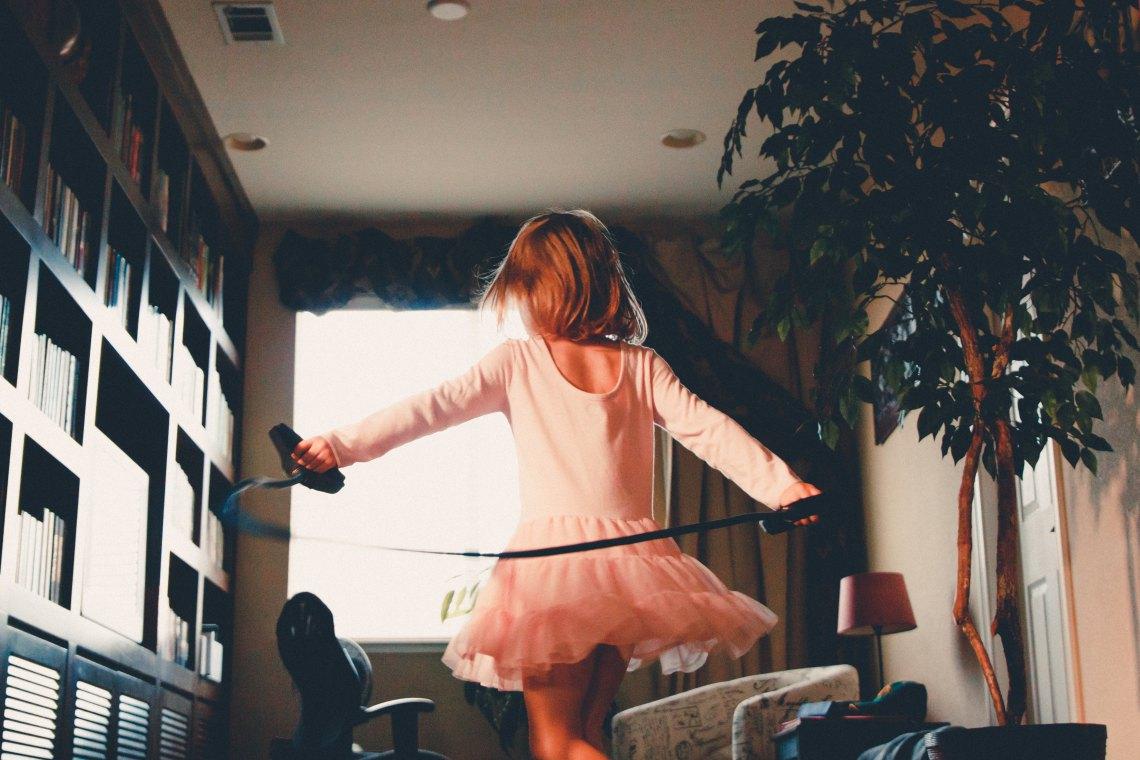 child dancing, having kids