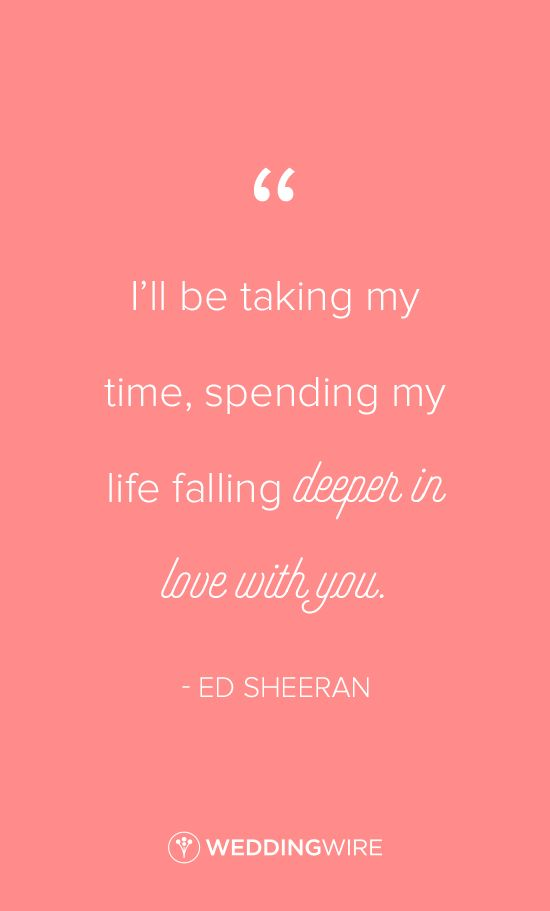 Love quote : Ed Sheeran love quote idea - How Would You Feel ...