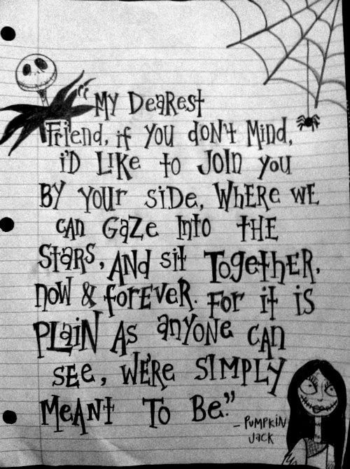 as the quote says description nightmare before christmas - Nightmare Before Christmas Quotes