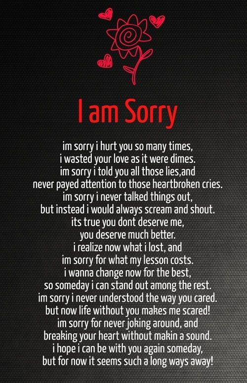 31 I'm Sorry Poems - Love Poems Perfect for Saying I'm Sorry  Im Sorry I Hurt You But I Love You Poems