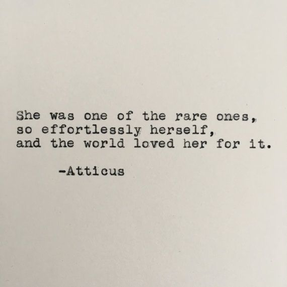 Love Atticus Quote Typed On Typewriter By LettersWithImpact Classy Atticus Quotes