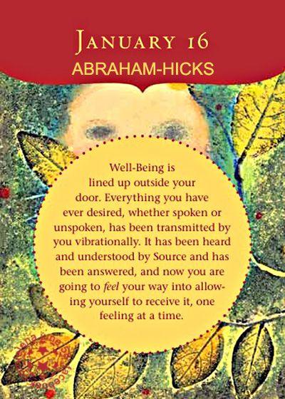 January 2018 Quotes Abraham Hicks January 16 Perpetual