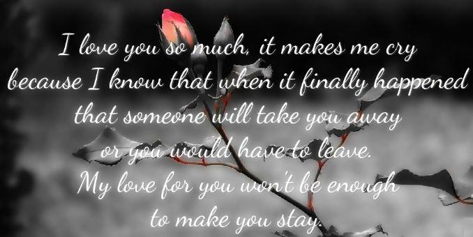 Depressing Love Quotes | Love Depressing Love Quote For Her Quotesstory Com