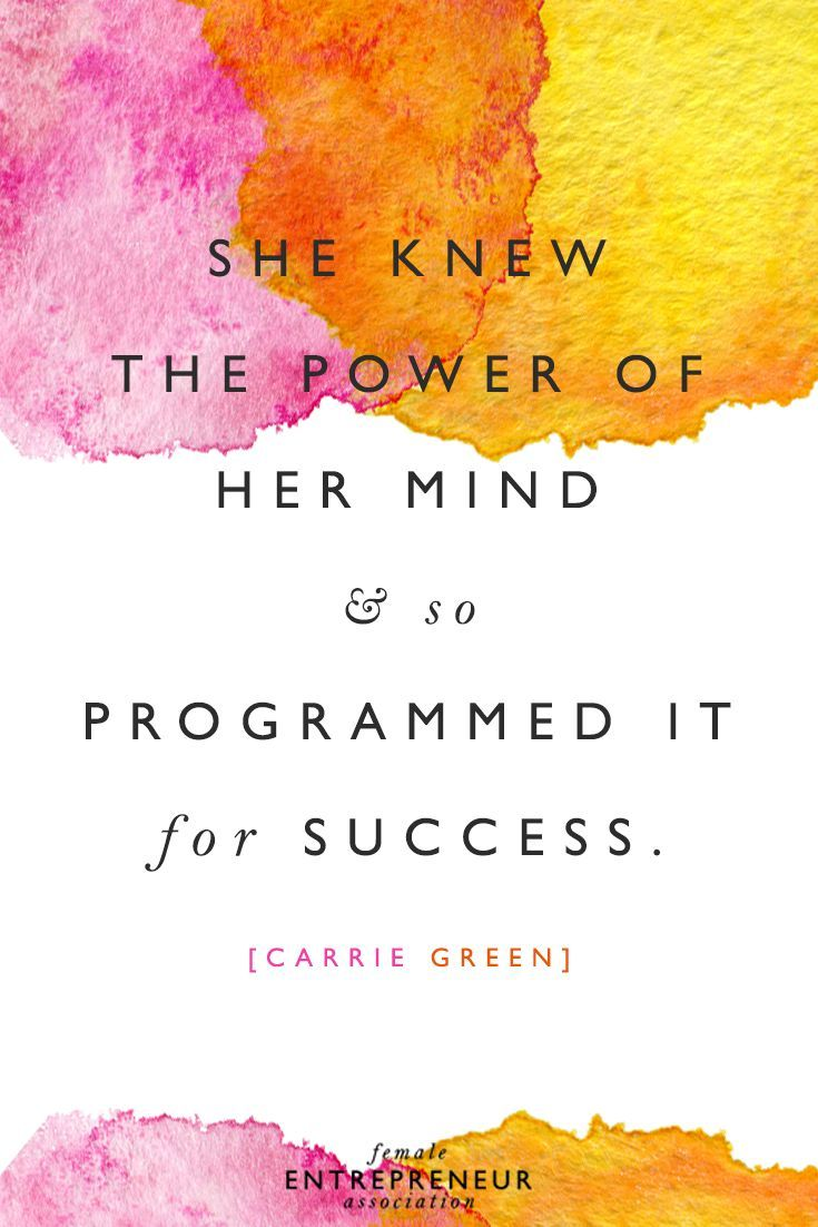 She Knew The Power Of Her Mind So Programmed It For Success