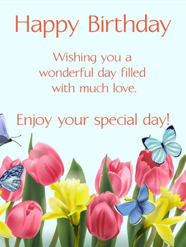 as the quote says description send free happy spring birthday card - Send Birthday Card