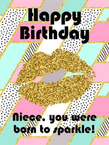 Best Birthday Quotes You Were Born To Sparkle Happy Birthday Card