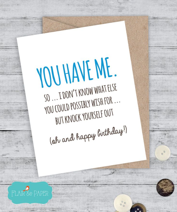 as the quote says description birthday card