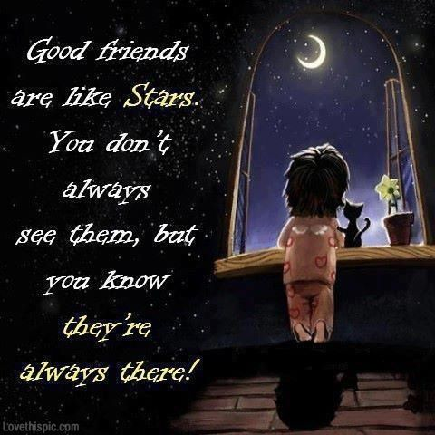 Friendship Quotes Good Friends Are Like Stars Quotes Cute Quote