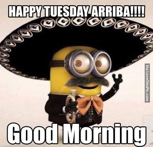 Tuesday Quotes Happy Tuesday Arriba Good Morning Minion Good