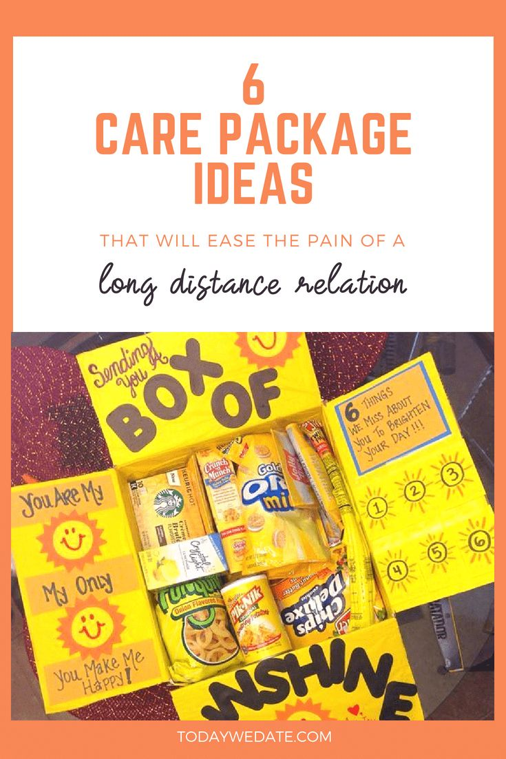 long distance relationship 6 care package ideas that your long