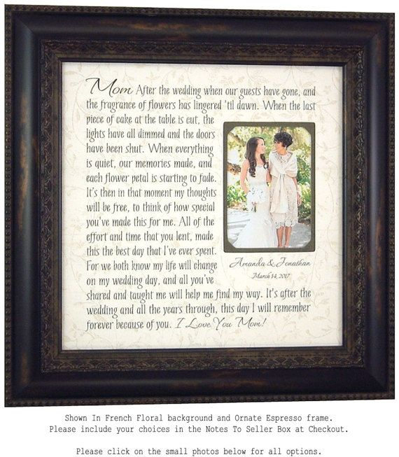Wedding Quotes : Wedding Gift for Parents Mother of the Bride Gift ...
