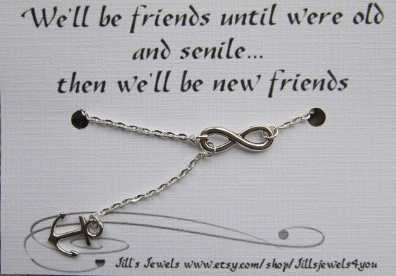 Friendship Quotes : Infinity and Anchor Charm Necklace and ...