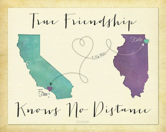 Friendship Quotes Long Distance Best Friend Gift Going Away Gift