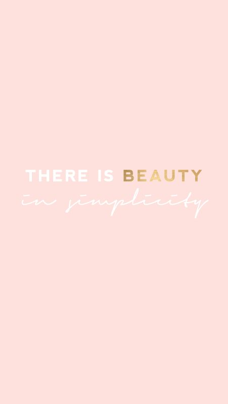 Motivational Quotes Blush Pink Beauty In Simplicity Iphone