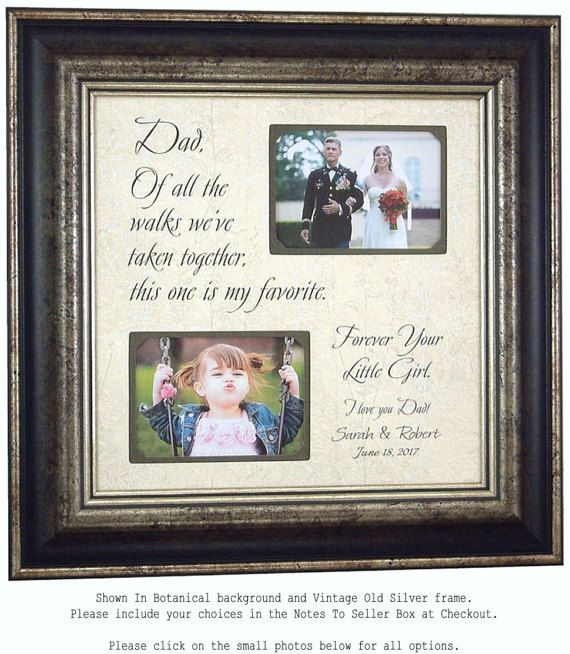 Wedding Quotes : Father of the Bride Gift wedding picture frame Dad ...