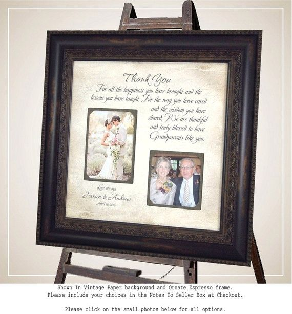 Wedding Quotes : Personalized Grandparents Picture Frame by ...