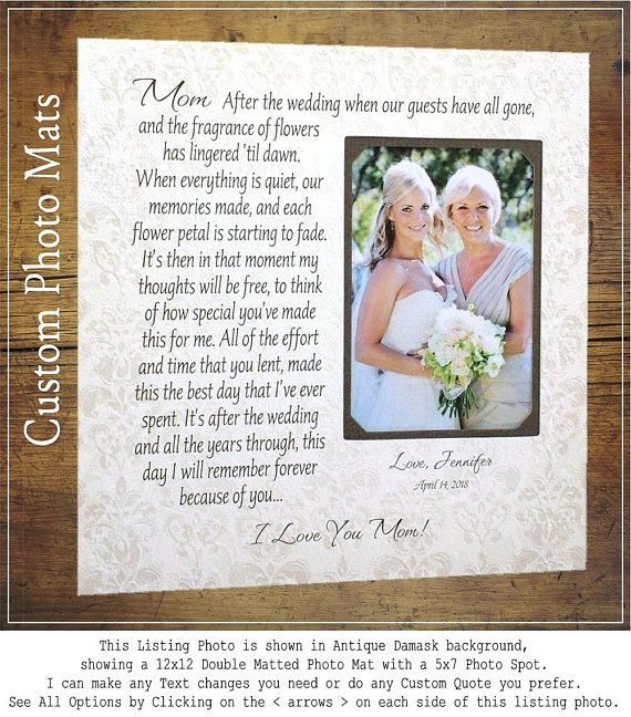 wedding quotes wedding gift for mom bride gift to mom bride