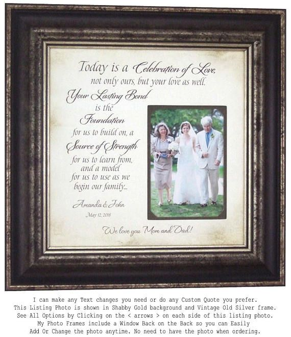 Wedding Quotes Wedding Gift For Parents Of The Bride Wedding Gift
