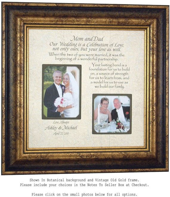 Wedding Quotes : Personalized Wedding Gift for Parents of the Bride ...