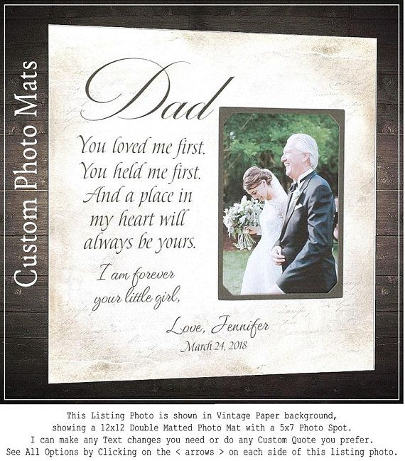 Wedding Quotes : Wedding Gift for Dad, Father of the Bride Gift ...