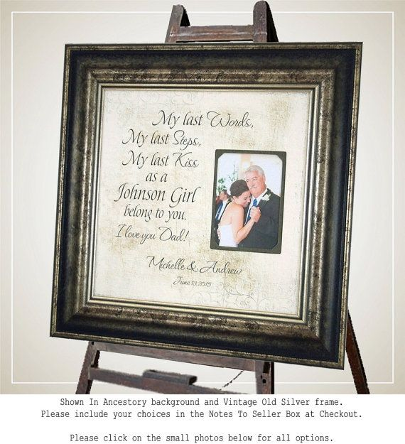 Wedding Quotes Wedding Gift For Dad Parents Gift Wedding Thank