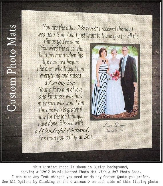 Wedding Quotes : Wedding Photo Mats, Bride Gift To Parents, In-Laws ...