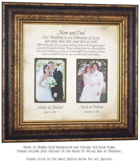 Wedding Quotes : Personalized Picture Frame Parents Wedding Gift ...