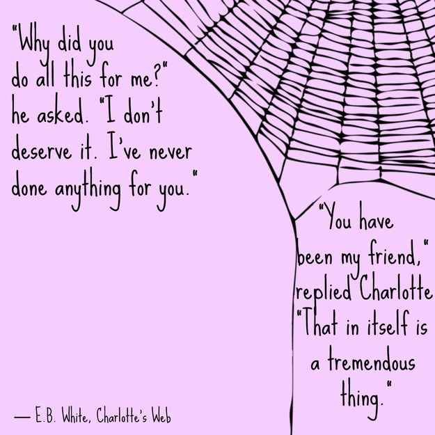 Rig Quote Awesome Friendship Quotes Charlotte's Web EB White I'm Reading This