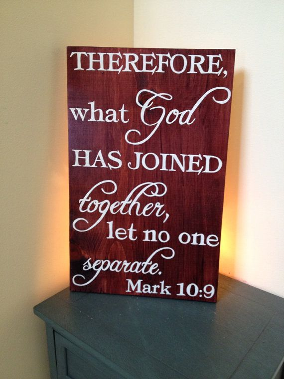 Quotes About Wedding What God Has Joined Together Let No One