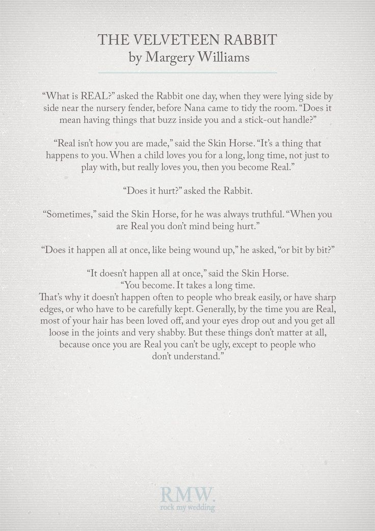 Quotes about Wedding : The Velveteen Rabbit by Margery ...