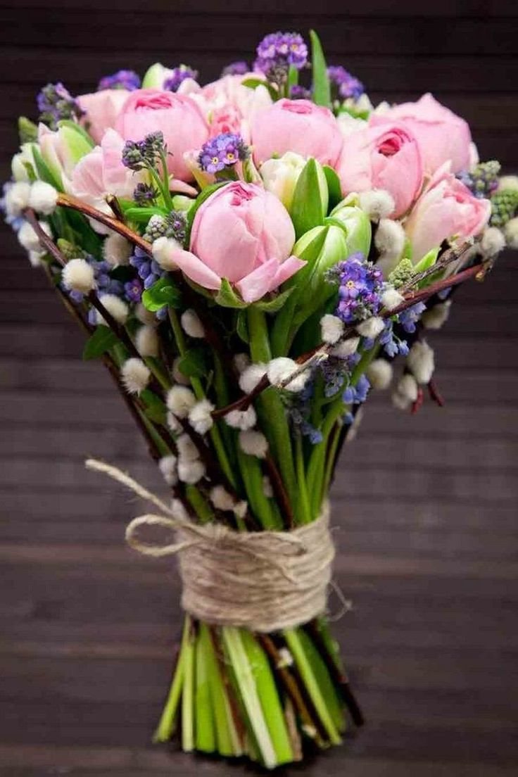 Quotes about Wedding  :  Quotes about Wedding : fleurs mariage romantiques – un bouquet de tulipes en rose pâle et branches de … – QuotesStory.com | Leading Quotes Magazine, find best quotes collection with inspirational, motivational and wise quotations on what is best and being the best